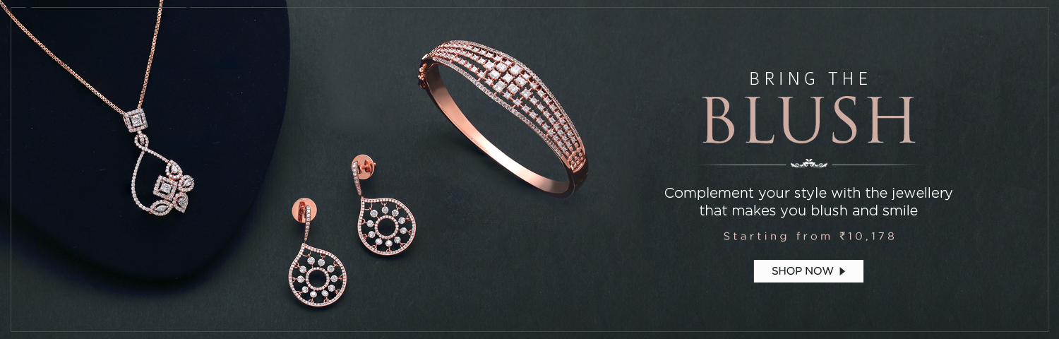Rose gold diamond collection
