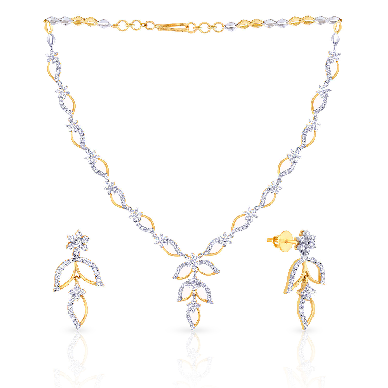 Malabar Diamond: Buy Mine Diamond Necklace Set KLNAFKLE62 For Women Online