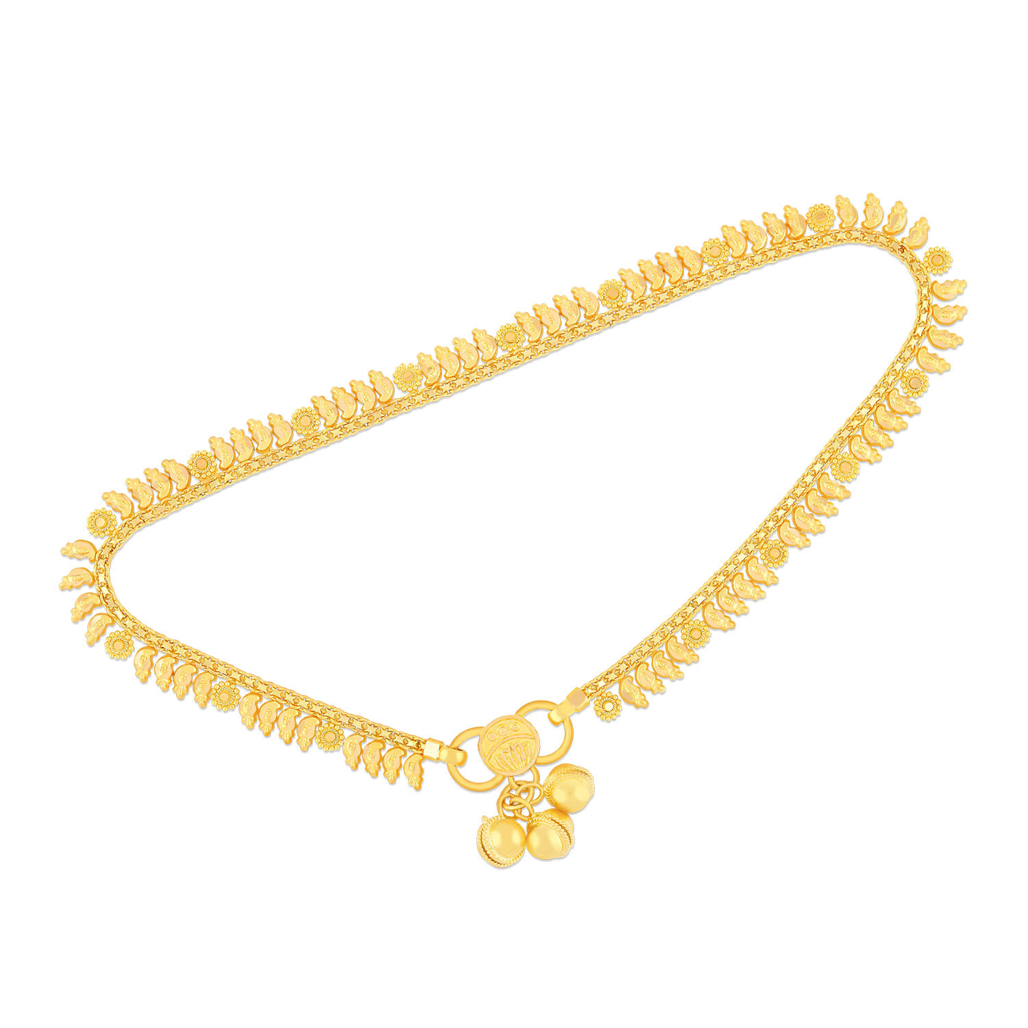hj chain plumeria jewelry anklet gold yellow singapore
