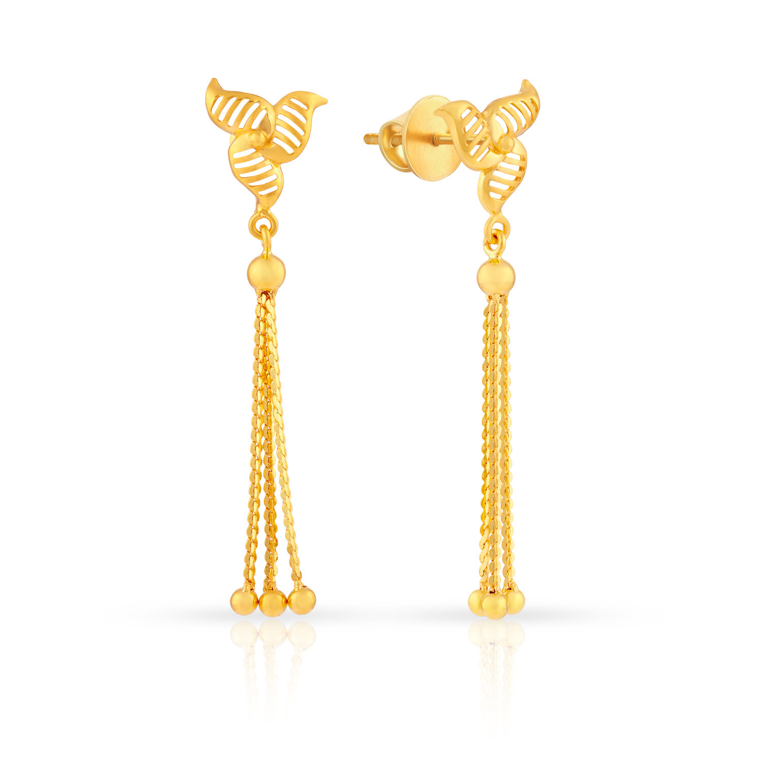 earrings daily gold white wear diamond