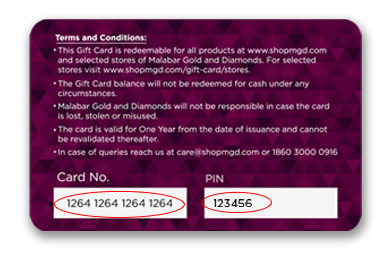 Activate Your Malabar Gold & Diamonds Gift Card