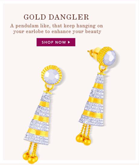 Gold Dangler
