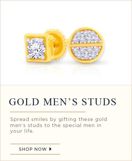 Gold Mens Studs