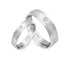 Platinum Couple Band Everafter Collection Malabar Gold
