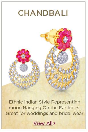 Diamond Chandbali Earrings Festival Offers