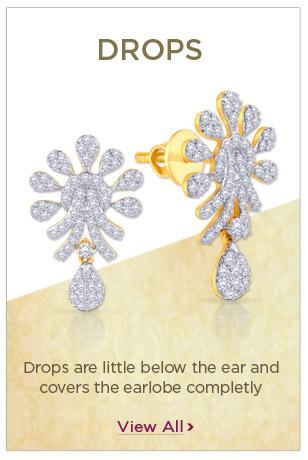 Diamond Drops Earrings Festival Offers