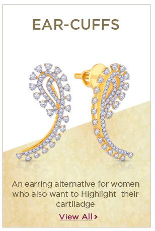 Diamond Ear-Cuffs Earrings Festival Offers