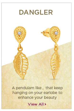 Gold Danglers Earrings Festival Offers