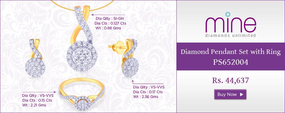 Mine Diamond Pendant Set