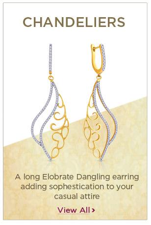 Diamond Chandeliers Earrings Festival Offers