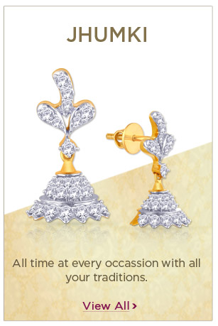 Diamond Jhumki Earrings Festival Offers