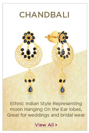 Gold Chandbali Earrings Festival Offers