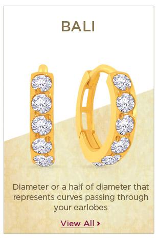 Gold Bali Earrings Festival Offers
