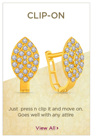 Gold Clip-On Earrings Festival Offers