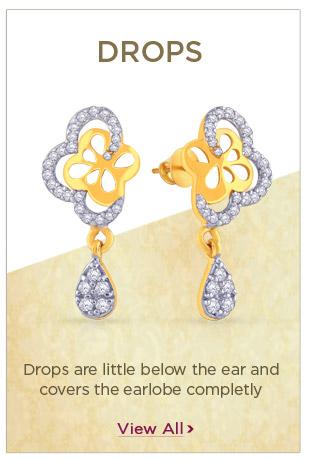 Gold Drops Earrings Festival Offers