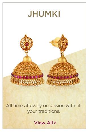 Gold Jhumki Earrings Festival Offers